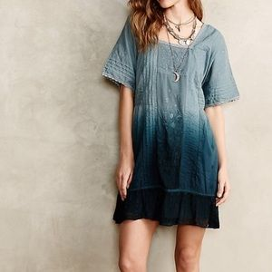 🌿 Anthropologie Ombré Ocean Dipped Tunic Dress 🌿
